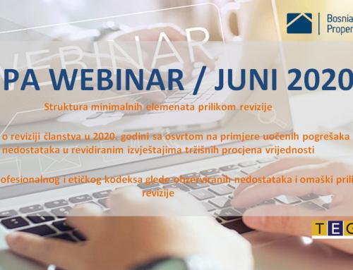 Webinar – Juni 2020
